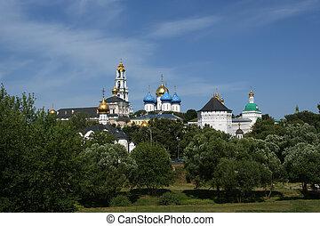 Architectural Ensemble of the Trinity Sergius Lavra in Sergiev Posad. Russian Federation