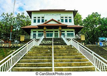 architectural, escalier, élément, béton, haut