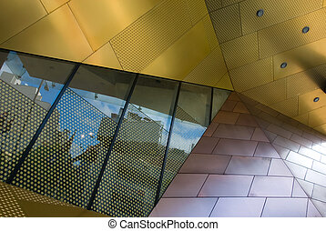 Architectural Feature - The colourfully designed exterior of...