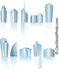 architectural generic city office buildings