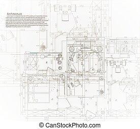 Architectural house blueprint.