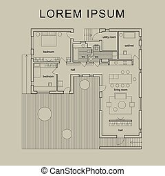 Architectural house plan.