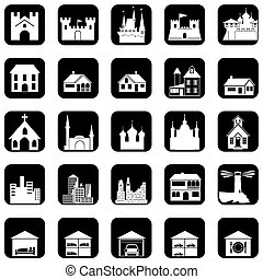 architectural icons - set of vector icons on the ...
