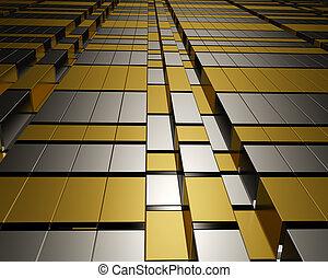 Architectural modern metallic desig