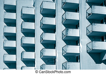 Architectural pattern - Cubic balconies