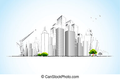 Architectural Plan - illustration of architectural building...