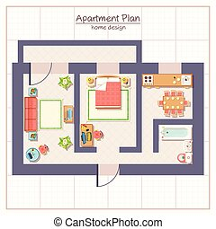 Architectural Plan Illustration
