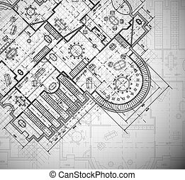 Architectural plan - Detailed architectural plan. Eps 10
