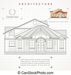 Architectural plan of building with specification -...