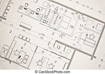 architectural plan, technical projec - drawing technical ...