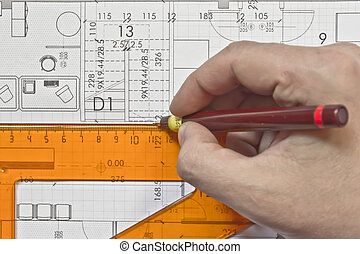 architectural plan,technical projec
