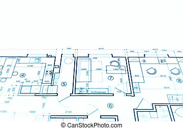 Construction blueprint drawing tools on construction plan stock architectural project technical drawing construction plan blueprint malvernweather Images