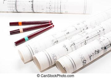 architectural, projet, partie