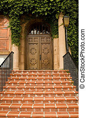 The cold and stone stairs of classic architectural building