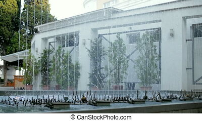 Architectural structure - Beautiful dancing fountain on the...