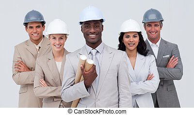 Architectural team smiling at the camera