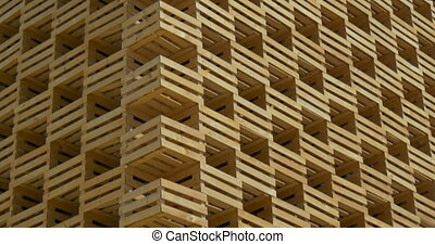 Architectural wooden wall structure
