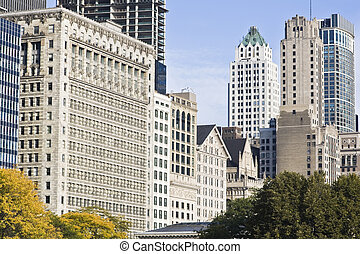 Architecture along Michigan Avenue