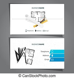 Architecture and construction business card
