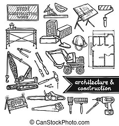 Architecture and construction icons - Architecture and...