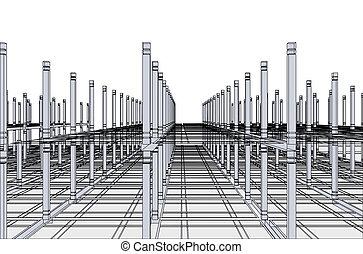 architecture., astratto