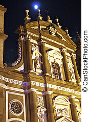 Architecture at Night in Frascati, near Rome, Italy