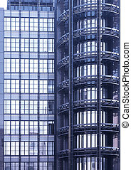 Architecture blue
