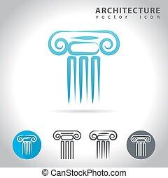 architecture blue icon