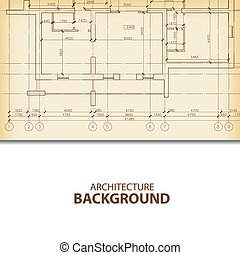 Architecture blueprint background fragment