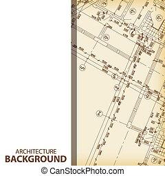 Architecture blueprint fragment background
