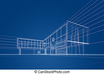 Architecture blueprint 3d render on white stock images Search
