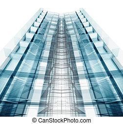 Architecture. Building concept. 3d rendering