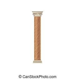 Architecture classic stone colomn vector Illustration on a white background