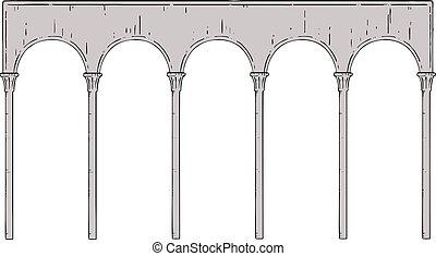 architecture, colonnes, arc