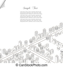 Architecture concept background. Vector city