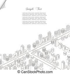 Architecture concept background. Vector city