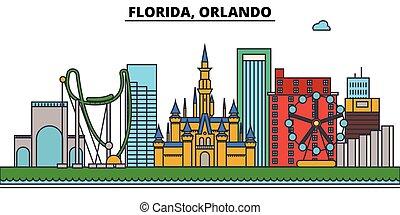 architecture, conception, bâtiments, vecteur, ville, ...