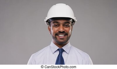 indian architect or businessman in helmet - architecture,...