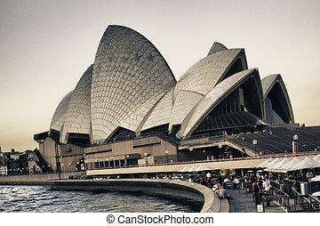architecture, détail, de, sydney