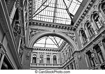architecture, de, vieux, couloir