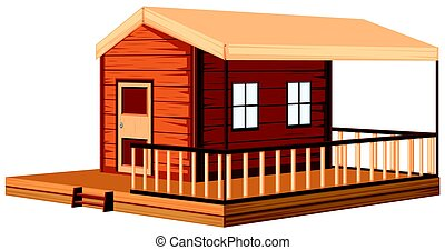 Architecture design for wooden cottage