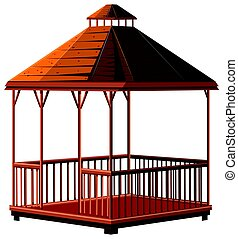 Architecture design for wooden pavilion