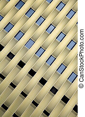 Architecture detail - Pattern of a steel grid of a modern...