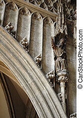 Architecture detail. St Stephens Cathedral. Vienna