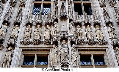 architecture details in belgium