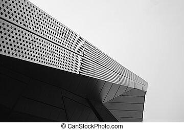 Architecture details metallic shape
