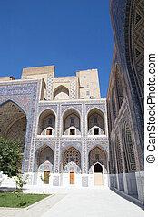Samarkand - Architecture details of the Ulugh Beg Madrasah...