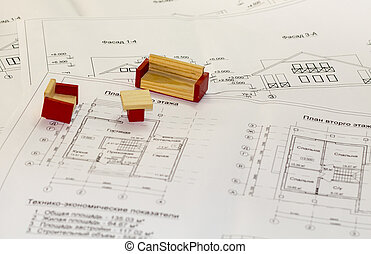 Architecture drawings and plans of the house
