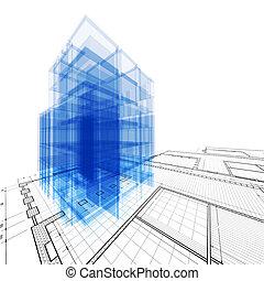 Architecture engineering. High resolution 3d render