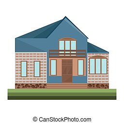 Architecture facade building vector illustrations house detailes